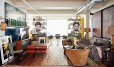 Why Drew McGukin's Colorful Home Differs from Those of His Clients - 1stDibs Introspective Van Der Straeten, Hollywood Glamour, Ile Saint Louis, Cosy Corner, Class Design, Modern Dresser, Art Deco Furniture, Vintage Lamps, Reception Rooms