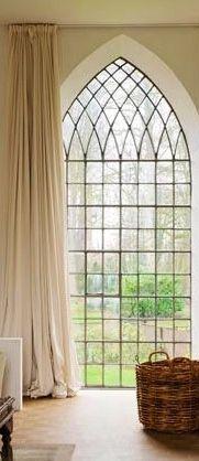 Beautiful flowing draperies.