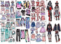 Outfit Mystery Box Delivery 1 by Guppie-Vibes on DeviantArt Drawing Anime Clothes, Manga Clothes, Fashion Illustration Sketches, Fashion Sketches, Anime Outfits, Cute Outfits, Clothing Sketches, Cartoon Art Styles, Fashion Design Drawings