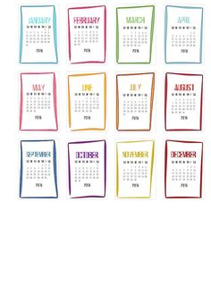 2016 Circular CD calendars – have your say Sunday To Saturday, Weekly Calendar, Filofax, Christmas Crafts, Bullet Journal, Printables, Printable Calendars, Sayings, Menu