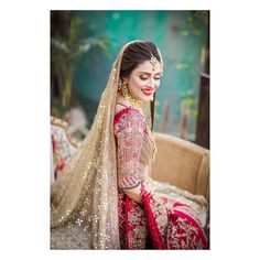 "--- Presenting the first look of "" Dulhan"" for Coordination & PR: photography Dress Bridal Beauty, Bridal Makeup, Ayeza Khan, Bride Look, Bridal Shoot, Bridal Collection, Bridal Dresses, Wedding Styles, Sequin Skirt"