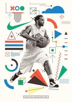 #illustration #colourful #illustrator #colour #character #infographic #graphic #design #nike #sport #basketball #deronwilliams #basketballinfographic