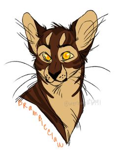 Brambleclaw By Deerffindeviantart On DeviantArt Warrior Cat Drawings Drawing