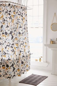 Killian Terrazzo Shower Curtain - Urban Outfitters