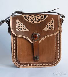 Women bag Celtic knot by CorsarLeather on Etsy