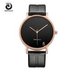 Simple Watches Mens 2017 New Fashion Sports Quartz Dress Cool Minimalist Watch For Women Man Hodinky With 5 Letter Dial Gifts