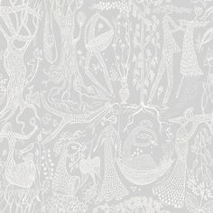 "Brewster Home Fashions Scandinavian Designers II Poem d ´Amour Folk 33' x 21"" Wallpaper Roll Color: Light Gray"