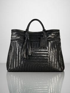 6885f32930 Woven Vachetta Large Shopper - Ralph Lauren Handbags Handbags -  RalphLauren.com. Preeti Sundaram · Fashion - Bags