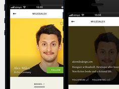 Readmill user profiles