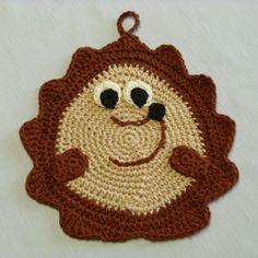 Crochet Spot  » Blog Archive   » Crochet Pattern: Hedgehog Potholder - Crochet Patterns, Tutorials and News