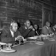 Richard Wright (left) on a panel at the First Congress of Black Writers and Artists in Paris