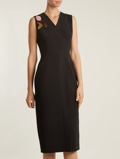 Roksanda Saskia V-neck embellished dress Roksanda, Embellished Dress, Stiletto Heels, Ready To Wear, Women Wear, Dresses For Work, V Neck, How To Wear, Outfits