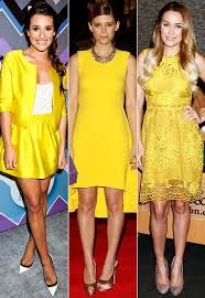 celebs in yellow