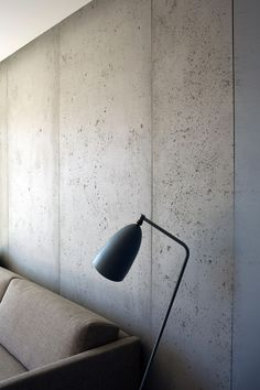 The Classic Panbeton from Concrete LCDA is the unlikely marriage of . - The Classic Panbeton from Concrete LCDA is the unlikely marriage of simplicity and authenticity. Concrete Wall Panels, Concrete Wall Texture, Cement Walls, Wood Wall Design, Wall Texture Design, Concrete Interiors, Office Walls, New Home Designs, Staircase Design