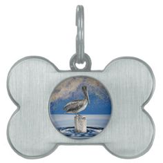 PELICAN IN BRIEF (Art design 1) ~ Pet Name Tag  Original paintings can be found for sale through my Amazon store at: http://www.amazon.com/shops/artmatrix or you can make direct arrangements for them through me. JMO Zazzle designs: http://www.zazzle.com/thewhippingpost?rf=238063263784323237 To help an artist, you can donate here: http://www.gofundme.com/6am6lg