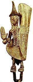 Etruschi - bronzetto rinvenuto nella tomba dei bronzetti sardi a Vulci nel Lazio