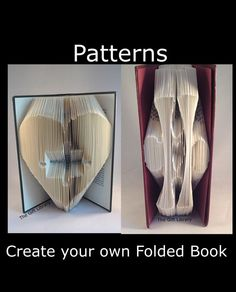 Book folding PATTERNS,Heart Jigsaw Autism -to Create your own folded book art