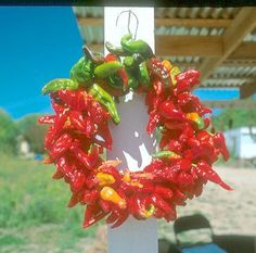 Hot Chile Pepper Wreath
