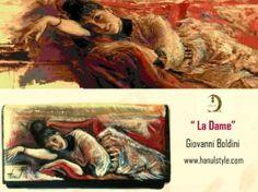 po07 Portafoglio dipinto a mano - Le Dame - Boldini