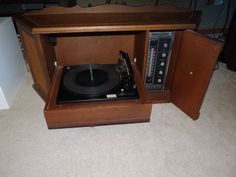 Mid Century, Eames, Atomic Era Wall Mount Hi-Fi Stereo AM/FM Radio and Turntable - by TELEX