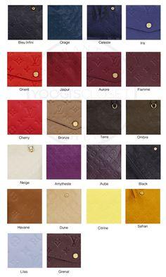 Louis Vuitton Empreinte Color Guide