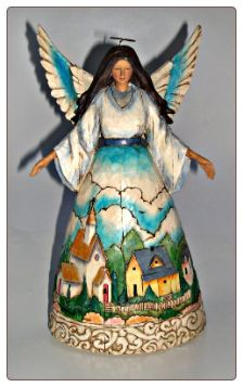 This was my second Jim Shore Angel. My dad gave it to me!                                       Jim Shore Heartwood Creek Angel Town Scene
