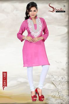 Brace the Pink designer kurti by Snehal Creation
