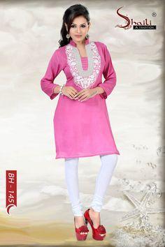 Brace the Pink designer kurti by Snehal Creation Braces, Kurti, Pink, Design, Button Suspenders, Hot Pink, Pink Hair, Design Comics, Dental Braces