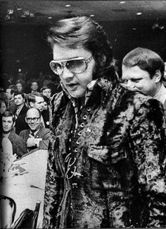 Memphis Tennessee, January 16th 1971, Holiday Inn-Rivermount:  Elvis being awarded a U.S. Jaycees: 10 Outstanding Young Men award.  Of all of his accolades, he was most proud of this, and most afraid of making his speech.