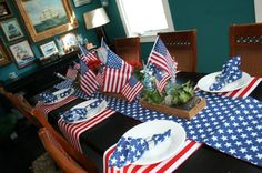 Stars and Stripes Tablescape
