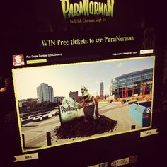 Zombies in Grand Canal Square? But Halloween isn't until next month! Facebook-integrated campaign for Universal's new release, ParaNorman, underway