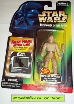 star wars action figures LUKE SKYWALKER BESPIN 1998 power of the force hasbro toys moc mip mib