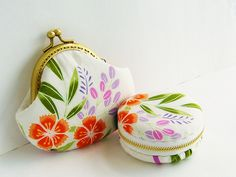 macaroon Coin or Jewelry pouch,Japanese fabrics,flowers macaron coin purse. $16.00, via Etsy.