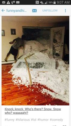 This is the damage a family friend got in Cheektowaga ny from #snowvember