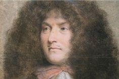 Portrait de Louis XIV (détail). Pastel de Charles le Brun conservé au musée du Louvre à Paris