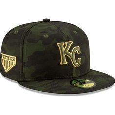 half off dcbd8 df1df Kansas City Royals New Era 2019 MLB Armed Forces Day On-Field 59FIFTY  Fitted Hat