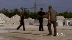 "Burn Notice 4x12 ""Guilty as Charged"" - Fiona Glenanne (Gabrielle Anwar), Sam Axe (Bruce Campbell) & Dale Lawson (Michael Rooker)"