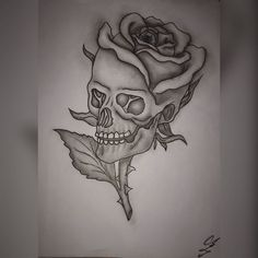 Cool Skull Tattoos For Women – My hair and beauty Gothic Drawings, Dark Art Drawings, Tattoo Design Drawings, Skull Tattoo Design, Art Drawings Sketches, Skull Tattoos, Tattoo Sketches, Tattoo Designs, Drawings Of Skulls