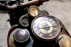 Early 40's Indian Motorcycle Dash