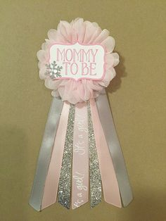 Pink Snowflake Baby Shower corsage pin Baby Its Cold by afalasca                                                                                                                                                                                 More