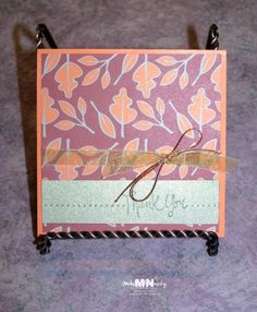 Here is a lovely DIY thank you note that would be lovely following your fall wedding.