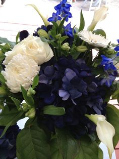 I Used These On My Table Bouquets Centerpieces Since It Is Almost Impossible To Get Light Blue FlowersWhite