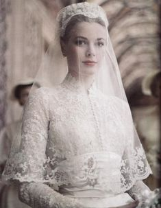Grace Kelly on her wedding day - Princess Grace of Monaco