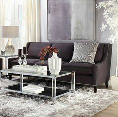 Reese Aubergine Living Room Inspiration Look On