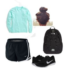 Finals week by alana-mae-chesebro on Polyvore featuring polyvore, fashion, style, Vineyard Vines, NIKE and The North Face