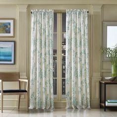 ALSO OUT OF STOCK  J. Queen New York™ Winslow Botanical Print Window Curtain Panel - BedBathandBeyond.com