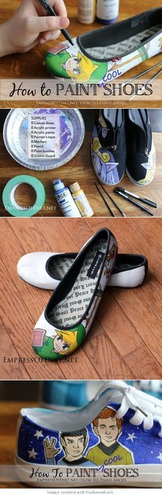 How To Paint Shoes - This tutorial will show you everything you need to know to create your own (very cool!) hand-painted shoes. A few years ago my teenage daughter started customizing canvas shoes (which is now a business venture) and hasn't turned back.