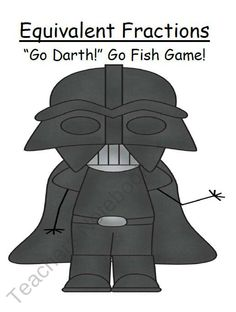 """FREE """"Go Darth!"""" Equivalent Fractions Go Fish Card Game product from Fern-Smith on TeachersNotebook.com"""