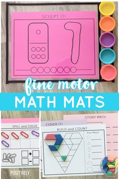 Ready to mix up your morning math work or add fine motor tasks while reinforcing math skills? This is a HUGE set of math mats designed for hands-on learning while learning and practicing K-1 math concepts! #mathmats #morningwork #mathcenters
