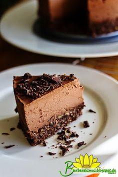 Cheescake Vegano de Chocolate - Barbarelismus
